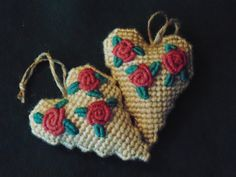 Hey, I found this really awesome Etsy listing at https://www.etsy.com/listing/234255804/dusty-rose-heart-ornament-in-needlepoint