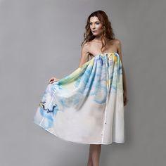 Cotton silk mix strapless dress - Brandfashion Boutique - 1