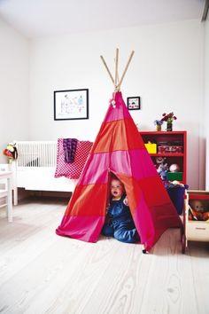 Kid's love tepees! Photo by Lisbett Wedendahl #kidsroom