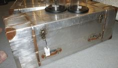 Found this Silver industrial aluminium trunk coffee table in the most quirky trinket, At gallery shop in Angel Islington