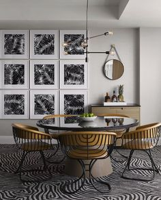 Zebra dinning room