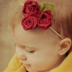 Fabric Rose Pattern Headband - Delicate, lovely, and easy, this fabric flower pattern is absolutely stunning. Make it for your girl to wear to church on Easter Sunday or the next time she attends a wedding. This would make a gorgeous flower girl accessory.
