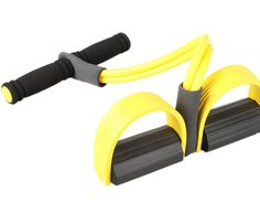 Edtoy Gut Buster Pull up Exerciser Tummy Trimmer Belly Slimming Rowing Action Exerciser Yellow. It can be used at home or in the office to shape your body, trim the waist. It helps to strengthen your arms, legs, hips, thighs and works on the tummy at the same time. Size: 51*25cm. Rubber.