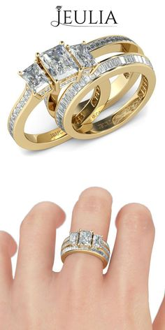 Jeulia offers premium quality jewelry at affordable price, shop now! Silver Rings With Stones, Sterling Silver Rings, Emerald Ring Gold, White Sapphire, Emerald Cut, Italian Gold Jewelry, Mommy Jewelry, Sunflower Jewelry, Swarovski Jewelry