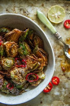 FRIED!!! > Crispy Fried Brussels Sprouts by @heatherchristo for PW Food & Friends