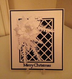 Mono  Christmas Card which is simpl but stunning x