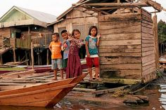 Children at the Terangang village in Central Kalimantan, Indonesia.