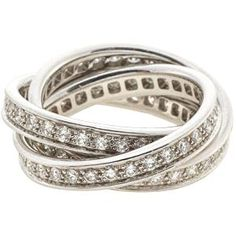 Cartier White Gold & Diamonds Trinity Ring Been in love with the trinity ring forever. Would love one with rose and yellow golds. Jewelry Box, Jewelery, Jewelry Watches, Jewelry Accessories, Fine Jewelry, Diamond Rings, Diamond Jewelry, Trinity Ring, Cartier Jewelry