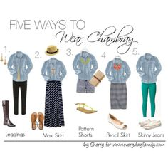 Chambray tops are a great wardrobe staple since they can easily be dressed up or down and worn a variety of ways.