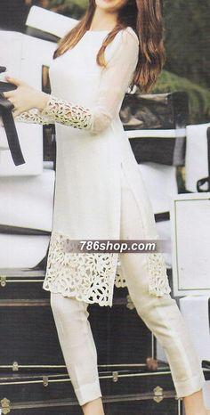Pakistani Dresses online shopping in USA, UK. Indian Attire, Indian Wear, Indian Suits Punjabi, Indian Fashion Salwar, Pakistani Outfits, Indian Outfits, Pakistani White Dress, Pakistani Dresses Party, Pakistani Bridal