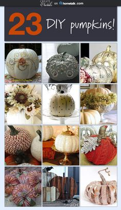 23 DIY pumpkins will have you forgetting all about Jack-o-lanterns! Love the velvet idea :)