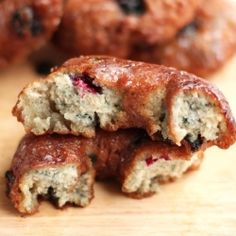 Blueberry Glazed Doughnuts recipe
