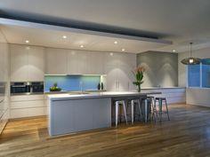Modern kitchen-dining kitchen design using floorboards - Kitchen Photo 353451