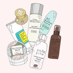 Has anyone else been bitten by the Korean beauty bug? I'm completely obsessed with reading everything and anything about these 10 step… Korean Beauty Routine, Makeup Illustration, Skin Toner, Beauty Logo, Wallpaper Iphone Cute, Kawaii Drawings, Beauty Care, Cute Art, The Balm