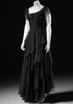 Silk Chiffon Evening Dress, ca.1952, National Gallery of Victoria, Melbourne