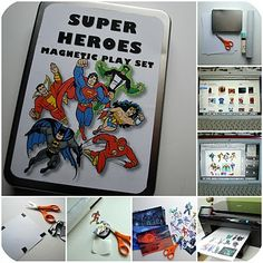 magnetic superheroes tutorial