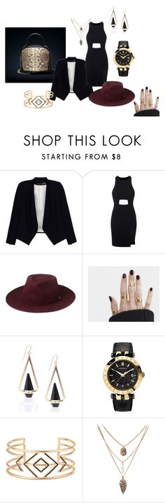 Business look with gold polish accessories Stella Dot, Whistles, Python, Alice Olivia, Versace, Topshop, Shoe Bag, Polyvore, Stuff To Buy