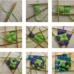 DIY Entrelac Socks Knitting