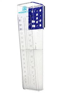 "RAIN GAUGE 6"" DELUXE ACCURATE PROFESSIONAL EASY READ WITH DUAL SCALE BY Outdoor Home. The Perfect Mountable Outdoor Rain Gauges For Your Garden And Yard."