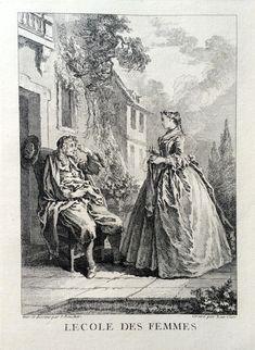 L'école des femmes - Molière - gravé par Laurent CARS d'après François BOUCHER - MAS Estampes Anciennes - Antique Prints since 1898