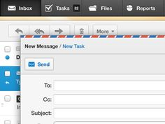 New Message - Mail App UI/UX