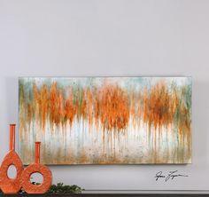 Uttermost - Autumn Waves Wall Art In High Gloss - 35313