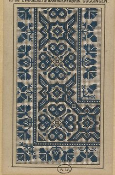 This Pin was discovered by Şen Just Cross Stitch, Cross Stitch Borders, Cross Stitch Charts, Counted Cross Stitch Patterns, Cross Stitch Designs, Cross Stitching, Hand Embroidery Design Patterns, Cross Patterns, Weaving Patterns