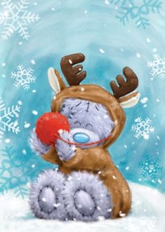 Me To You Tatty Teddy Reindeer Costume Personalised Christmas CardOnce you've personalised your card or uploaded a photo, and used the handwri , Teddy Pictures, Bear Pictures, Cute Pictures, Nici Teddy, Teddy Beer, Reindeer Costume, Blue Nose Friends, Christmas Teddy Bear, Personalised Christmas Cards
