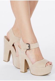 Augustina Faux Suede Heeled Sandals