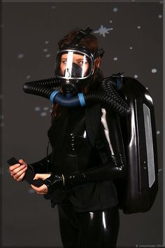 Catsuit, Oxygen Mask, Respirator Mask, Heavy Rubber, Full Face Mask, Latex Fashion, Models, Outfit, Motorcycle Jacket