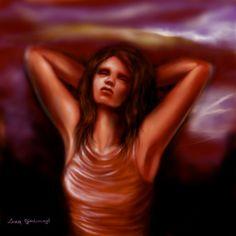 Titolo: penso a Munch Tecnica: disegnato con Photoshop By Laura Giordanengo