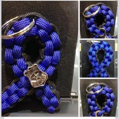 Thin Blue Line Key Ring by ParacordCharities on Etsy