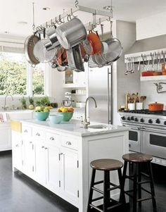 If You Have The E A Rack To Hang Your Pots And Pans From Ceiling Pot Hangers Are Especially Nice Because They Keep