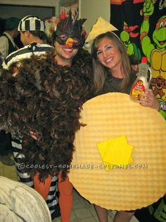 Coolest Chicken and Waffles Couple Costume... This website is the Pinterest of costumes