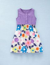 vest dress in cloud summer floral-mini boden Toddler Outfits, Kids Outfits, Girlie Style, Girls Dresses, Summer Dresses, Mini Boden, Purple Dress, Stylish Outfits, Outfits