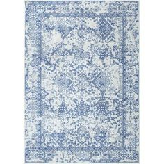 nuLOOM Vintage Odell Light Blue 7 ft. 10 in. x 10 ft. 10 in. Area Rug - RZBD21B-71001010 - The Home Depot