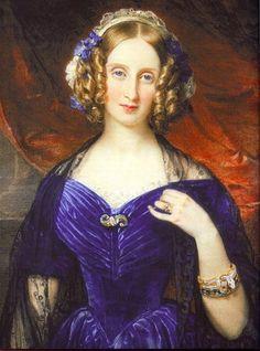 Луиза Мария Орлеанская королева Бельгии - by Franz Xaver Winterhalter