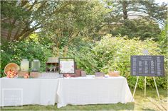 Rustic Refreshment Table // Della Terra Catering- dellaterracatering.com //Tina Elizabeth Photography- http://tinaelizabethphotography.com/