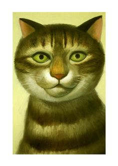 Cat Print - Shuntaro  by Natsuo Ikegami. Her artwork is available from Chanabean and from kushun55 on Etsy.