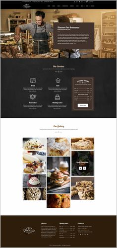 Support forum: Milano is a visually delightful and extremely attractive modern and responsive WordPress bakery and cake website theme. This theme is also very Website Design, Homepage Design, App Design, Template Web, Label Templates, Wordpress Template, Coffee Websites, Coffee Shop Website, Restaurant Themes