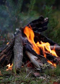 płonące ognisko