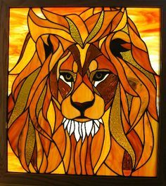 Lion Stained Glass