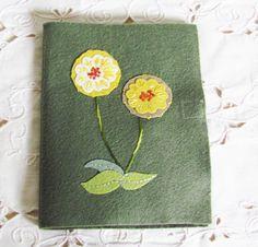 wool felt needle book accessory for hand sewing by cozyhomebytj