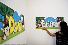 Due nostri quadri per bambini giganti! #beautiful  #madeinitaly #gift #present #printoncanvas #homedecore