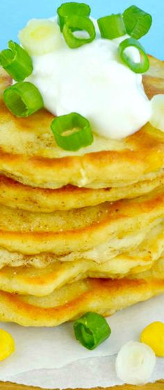 Corn Cakes~delicious little griddle cakes loaded with corn!