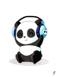 ▷ 1001 + schöne Bilder zum Nachmalen und Video-Anleitungen Funny and light drawings, Panda with listeners to paint yourself, drawing with a pencil Cute Panda Wallpaper, Bear Wallpaper, Panda Wallpapers, Cute Cartoon Wallpapers, Kawaii Drawings, Easy Drawings, Calin Gif, Panda Kawaii, Cute Panda Cartoon