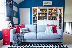Such a fun and vibrant play room! Modern Vintage Inspired Playroom | Makely School for Girls