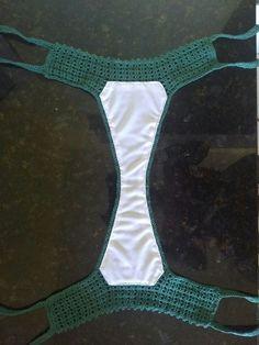Summer Free Crochet Bikini Pattern Design Ideas for Th Crochet Lingerie, Crochet Bra, Crochet Bikini Bottoms, Crochet Bikini Pattern, Crochet Shorts, Crochet Clothes, Free Crochet, Beach Crochet, Doilies Crochet