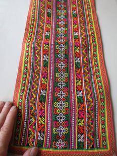 Vintage Hmong fabric Handmade Fabrics, handmade tapestry textiles, hill tribal fabric