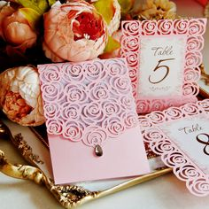 Laser Cut SVG Pattern Roses Wedding Luxery Card Template die cutting